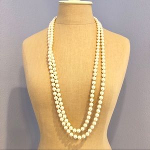 72 inch faux pearl strand